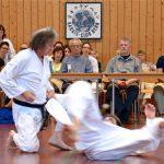 2014 - SSK Event Berna - Ivan e Fabio dimostrano Kumite in ginocchio davanti all'occhio vigile di Ohshima Sensei