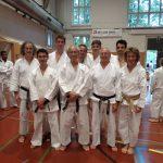 2014 - SSK Event Berna - Foto di gruppo di Ticino Shotokan con Ohshima Sensei