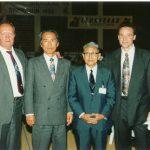 1993 - Quattro generazioni di Karate - Suisse Shotokan Symposium.  Bernard Cherix, Ohshima Sensei, Kamata-Watanabe e Patrick Mottet.