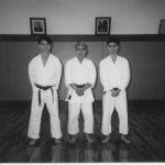 1994 - Il Maestro Kamata-Watanabe con David Woodward di Japan Shotokan e Alex Guillen a Waseda.