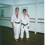 1995 - Guillen Alex con Peter Klimenko di Hong Kong Shotokan.