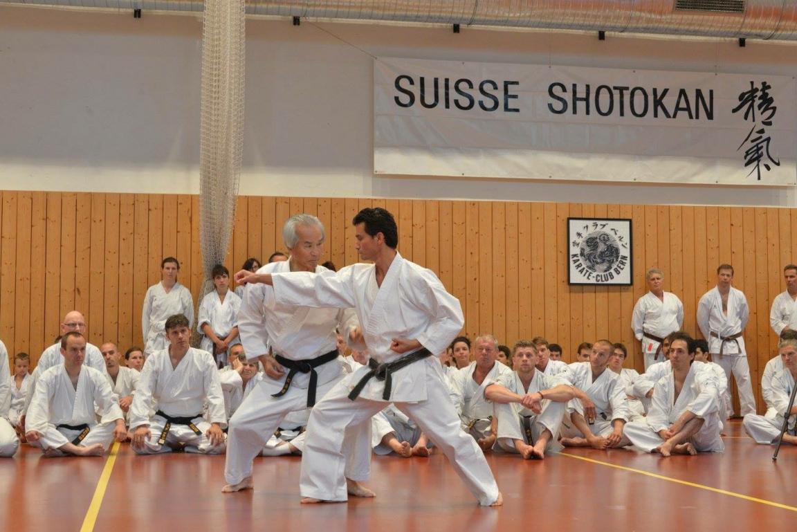 2014 - Ohshima Sensei con Alex Guillen durante SSK Event 2014 tenutosi a Berna.