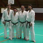 2015 - Membri di Ticino Shotokan con Eli Cohen (Godan Israel Shotokan)  durante gli allenamenti tenutosi a Colmar il 14 e 15 marzo 2015.