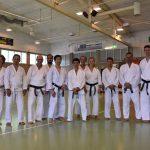 2017 - Membri di Ticino Shotokan Karate con Godan Shinichi Yamada durante i festeggiamenti dei 40 anni di Suisse Shotokan Karate (Winterthur - luglio 2017).