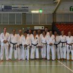 2017 - Membri di Ticino Shotokan Karate con Godan John Teramoto durante i festeggiamenti dei 40 anni di Suisse Shotokan Karate (Winterthur - luglio 2017).