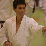 Alex Guillén durante un allenamento  alla festa dei 40 anni di Suisse Shotokan Karate (Winterthur - luglio 2017).