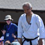 Ohshima Sensei durante la conduzione di un allenamento durante i festeggiamenti per i 60 anni di SKA - Shotokan Karate of America.