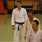 Fabio Bettosini durante un allenamento  alla festa dei 40 anni di Suisse Shotokan Karate (Winterthur - luglio 2017).