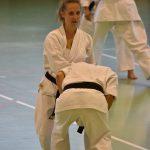 Michela Dotta durante un allenamento  alla festa dei 40 anni di Suisse Shotokan Karate (Winterthur - luglio 2017).