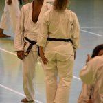 Michele Morettini durante un allenamento  alla festa dei 40 anni di Suisse Shotokan Karate (Winterthur - luglio 2017).