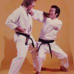 """Ohshima Sensei e Godan Don Depree (questa fotografia è stata utilizzata come copertina della rivista """"Black Belt Magazine"""")"""