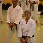 Peter Zimmermann durante un allenamento alla festa dei 40 anni di Suisse Shotokan Karate (Winterthur - luglio 2017).