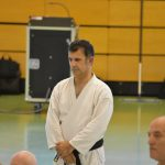 Robert Moreau durante un allenamento alla festa dei 40 anni di Suisse Shotokan Karate (Winterthur - luglio 2017).