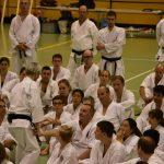 Ohshima Sensei durante la conduzione di un allenamento durante i festeggiamenti per i 40 anni di Suisse Shotokan Karate (luglio 2017).