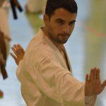 Marco Seniga durante un allenamento  alla festa dei 40 anni di Suisse Shotokan Karate (Winterthur - luglio 2017).